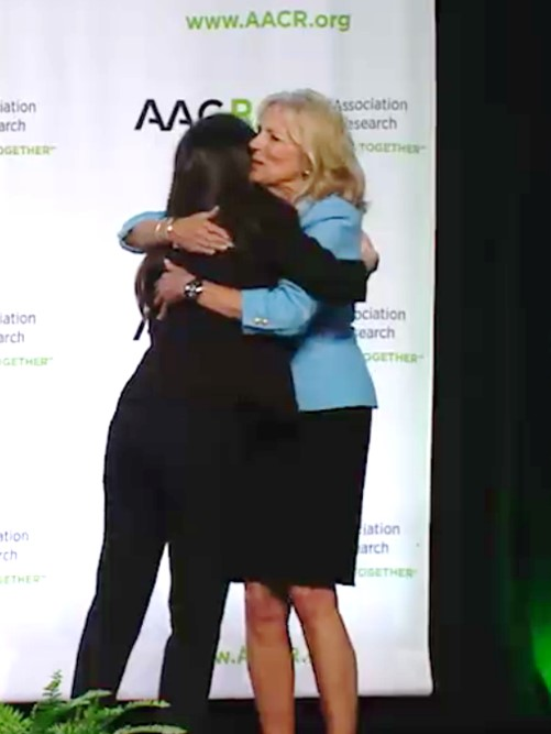 Dr. Lunt introduces Vice President Joe Biden and Dr. Jill Biden at the AACR Annual Meeting