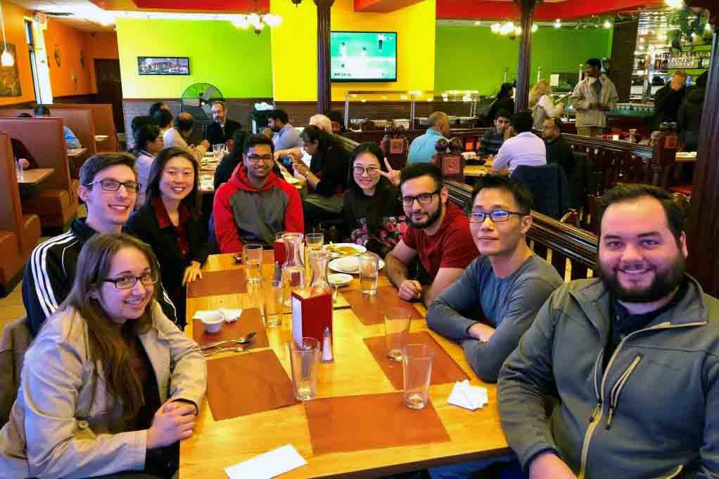 Lunt Lab holiday lunch